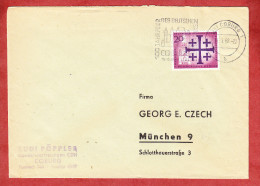Brief, EF Evangelischer Kirchentag Berlin, MS 100 Jahre Des Deutschen Saengerbundes Coburg 1962 (60741) - [5] Berlin