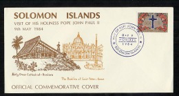 Solomon Islands 1984 Commemorative Cover Pope John Paul II  (B541) - Solomoneilanden (1978-...)