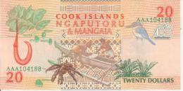 COOK ISLANDS 20$ P9 Unc - Cook Islands