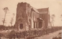 Wulpen   Koksijde    FOTOKAART van de kerk van 29 mei 1920  FOTO A Verbouw Jette