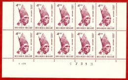 1976  -  BELGIQUE  N°  1798**   Bloc  De  10   Timbres  Neufs - Collections