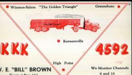 KKK 4592 W.E. BILL BROWN KERNERSVILLE - Radio Amatoriale