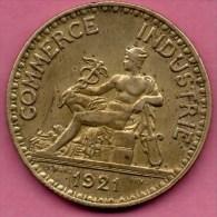 FRANCE  BON POUR 2 FRANCS 1921  DOMARD   CCF COMMERCE INDUSTRIE