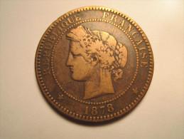 1878 K - 10 CENTIMES CERES - D. 10 Centesimi