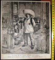 ANCIENNE GRAVURE 125 ANS TANCHON UN FORT DE LA VALLEE HALLES CENTRALES EMILE BLANCHON PHOTOGRAPHIE DUMONT SALON DE 1884 - Vieux Papiers