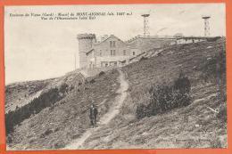 Oct266, Environs Du Vigan, Massif Du Mont-Aigoual, Vue De L'observatoire, Animée, Circulée - Le Vigan