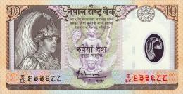 Nepal 10 Rupees (2005) Pick 54 UNC - Nepal