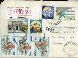 BIGLIETTO POSTA CAMPIONATO BASEBALL 1978 VIAGGIATO COME ESPRESSO - Interi Postali