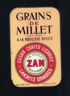 Ancienne Boite Lithographiee: Grains De Millet à La Reglisse Douce, Un Produit Zan, Marseille Uzes (14-3344) - Scatole