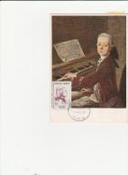 FRANCE  CARTE MAXIMUM    THEME MUSIQUE      MOZART N°1137 - Musique