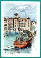 64 - Saint Jean De Luz Le Port Bateau Maison De L´infante-  Aquarelle De Robert Lépine -- Impeccable - Edit Yvon - Pittura & Quadri