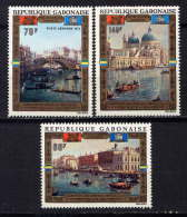 GABON - N° A124/126** - SAUVEGARDE DE VENISE - Gabon (1960-...)