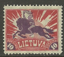 LITAUEN Lithuania 1921 Michel 99 A Ritter * - Lithuania