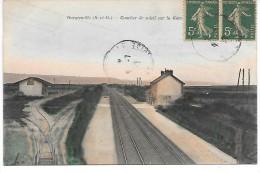 GARGENVILLE - Coucher Du Soleil Sur La Gare - Gargenville