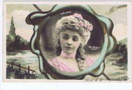 Rejane , Artiste 1900 , Photo Reutlinger , Décor Art Nouveau   ,  S.i.p. 1080 - Theatre