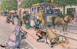 Chats Habillés Künzli, Tram Attelé (4741) - Cats