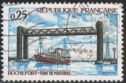 France SG1799 1968 Martrou Bridge 25c Good/fine Used - France