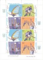 JUEGOS OLIMPICOS SYDNEY 2000 AÑO 2000 ARGENTINE IMPRESOS SE-TENANT EN 2 SERIES POR HOJA MNH