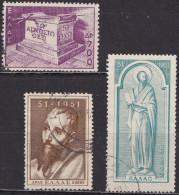 GREECE 1951 St. Pauls 1900 Anniversary Set To 2600 Dr. Vl. 657 - 658 - 659
