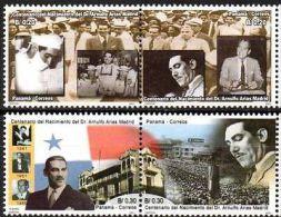PANAMA 2001. Dr. Arnulfo Arias Madrid, Médecin Et Homme Politique (2 Paires) - Other Collections