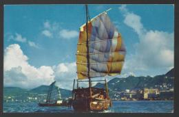 PAN AMERICAN - HONG KONG - The Harbor - 2 Scans - Flugwesen