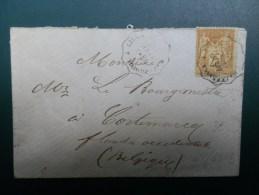 45/699B      LETTRE NR. 92  POUR KORTEMARK (BOURGEMESTRE) AMB. HAZEBROECK A LILLE - 1876-1898 Sage (Type II)