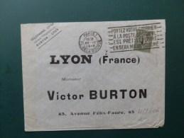 45/606  LETTRE 1918 - 1903-60 Semeuse Lignée