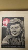 Revue MATCH - 7 Déc  1939 - Suède - Chien De Liaison -Maurice Chevalier - L'Amérique Hait Les Nazis - - Revues & Journaux