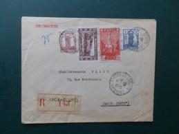 45/616   LETTRERECOMM. 1946 POUR PARIS - Marokko (1891-1956)