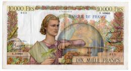 TRES BEAU BILLET 10 000 FRANCS N° 025 Alphabet Y 10960 Du 02.02.1956 - 1871-1952 Anciens Francs Circulés Au XXème