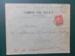 45/621  LETTRE   1905 GRENOBLE - 1903-60 Säerin, Untergrund Schraffiert