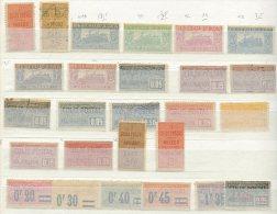 LOT neufs et oblit�r�s: 178 timbres pour Colis , Petit Colis et Colis Postaux de Paris pour Paris