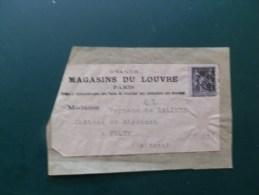 45/635    FRAGMENT  MAGASINS DU LOUVRE - Marcofilie (Brieven)