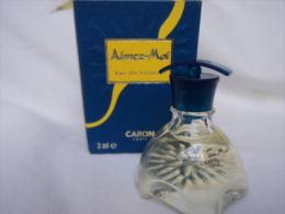 """CARON"""" AIMEZ MOI"""" MINI EDT 3 ML   IMPECCABLE  LIRE &VOIR !! - Miniatures Modernes (à Partir De 1961)"""