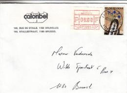 Belgisue - Vignettes D'affranchissement - Lettre De 1984 - Oblitération Bruxelles - Industrie Liniere - Postage Labels