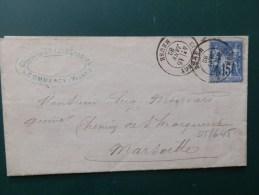 45/645  LETTRE   TIMBRE TYPE  SAGE 1882  OBL. COMMERCY - Marcofilie (Brieven)