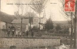 71 - CHANGE,  L' EGLISE - VUE DES BORDS DE LA COZANNE (ECRITE)
