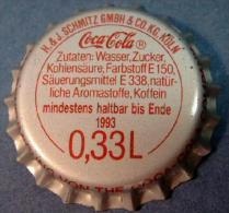 Coca-Cola Kronkorken K�ln 0,33L 1993 Cologne bottle crown cap chapa tapon corona tappi tappo capsule