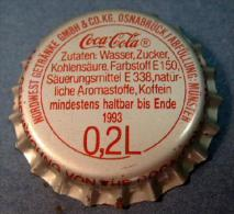 Coca-Cola Kronkorken Osnabr�ck-M�nster 0,33L 1993 bottle crown cap chapa tapon corona tappi tappo capsule