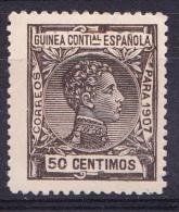 GUINEA 1907 . ALFONSO XIII   50  CENT.EDIFIL Nº  51   NUEVO  CON CHARNELA   SES 063 - Guinea Española