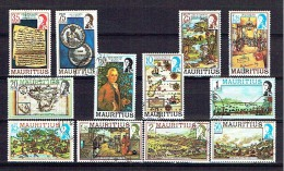 ILE MAURICE 1978, SERIE COURANTE, 12 Valeurs, Oblitérées, SERIE NON COMPLETE, SHORT SET / USED. R170c