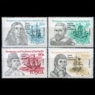 TONGA 1984 - Scott# 593-6 Navigators Set Of 4 MNH (XK754) - Tonga (1970-...)