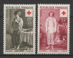 France (1956) Yv. 1089/90  /  Rotes Kreuz - Red Cross - Croix Rouge - Cruz  Roja - Croce Rossa - Rode Kruis