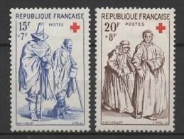 France (1957) Yv. 1140/41  /  Rotes Kreuz - Red Cross - Croix Rouge - Cruz  Roja - Croce Rossa - Rode Kruis