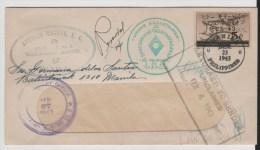 JG018 / Philippinen Retour-Brief, Zensiert, Überdruck Japanisch (Brief. Cover, Lettre) - Philippinen