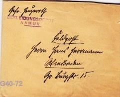 Feldpost WW1:  Bekleidungsdepot Namur In Belgium W/o Postmark But Letter Inside Is Signed Namur 13.7.1916 (G40-72) - Militaria