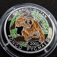 Chad Tchad 1000 Fr 2001 Orangutan Monkey - Chad