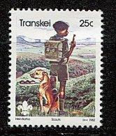 (cl 23 - P2) Afrique Du Sud  - Transkei ** N° 106 (ref. Michel Au Dos)- Scout Et Son Chien  - - Afrique Du Sud (1961-...)