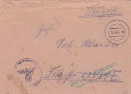 Feldpost WW2: Returned - Wait For New Address - Zurück An Absender - Neue Anschrifft Abwarten Originally Adressed To Inf - Militaria