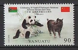 VANUATU - 2012 - Panda, Amitié Vanuatu-Chine // 1v Neuf // Mnh - Vanuatu (1980-...)